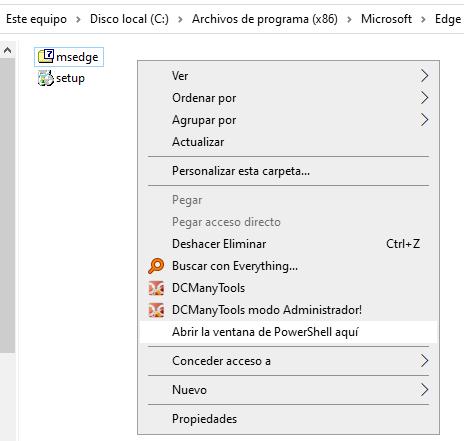 Desinstala Microsoft Edge