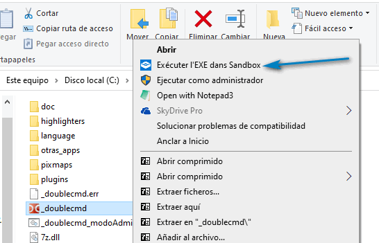 Run in Sandbox: ejecute PS1, VBS, EXE, MSI en Windows Sandbox a través del menú contextual
