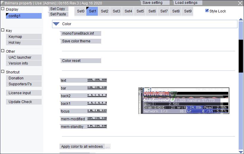thilmera 7: muestra la información del sistema en tiempo real (CPU, GPU, Ram, Red, y mucho más) en el escritorio