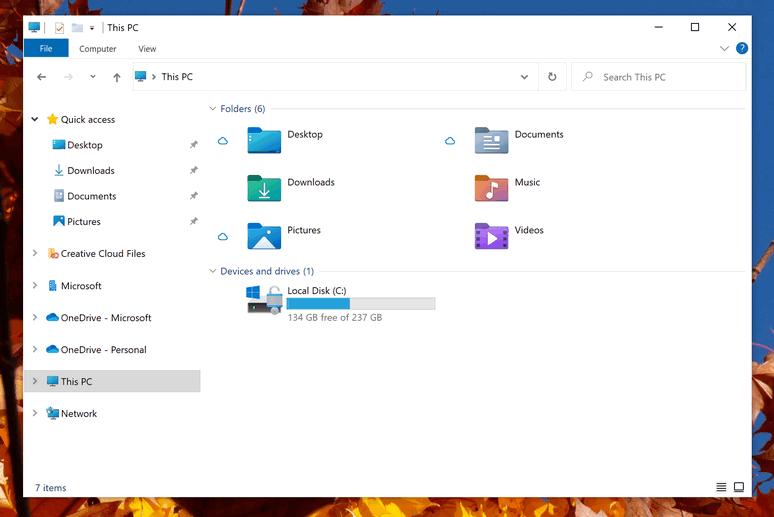 Así serán los nuevos iconos del Explorador de archivos de Windows 10