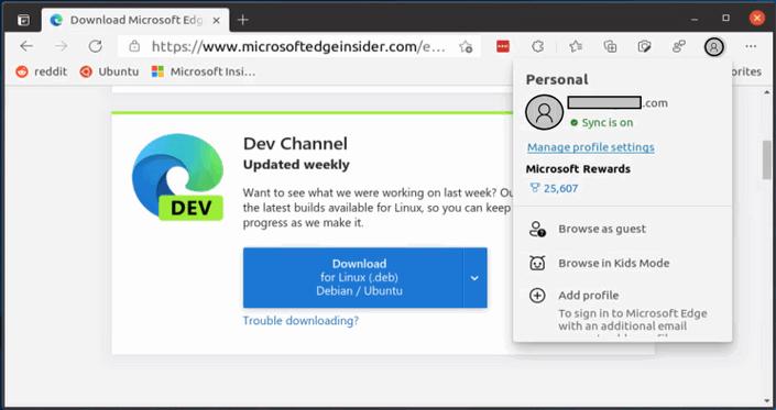 Los usuarios de Linux ahora pueden iniciar sesión y sincronizar sus favoritos en Microsoft Edge