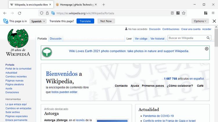 Las traducciones automáticas en sitios web pronto vendrán incluidas en Firefox