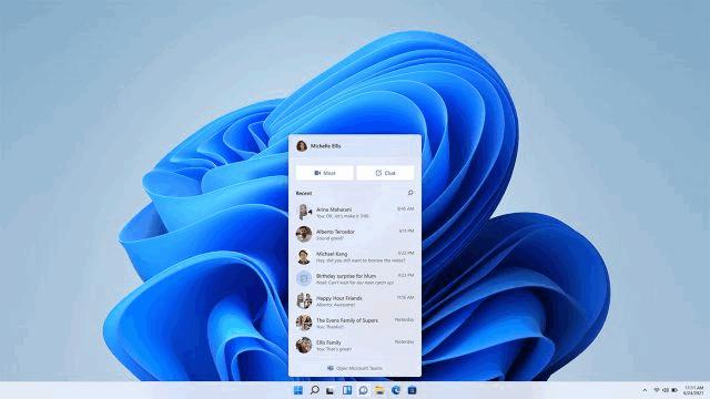 Microsoft lleva la integración de Teams a Windows 11